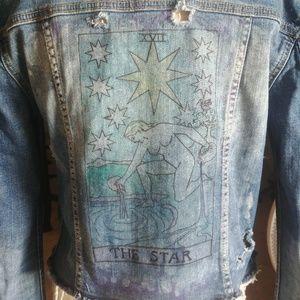 Tarot Card The Star Denim Jacket